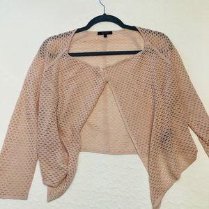 Bolero knit sweater - light pink